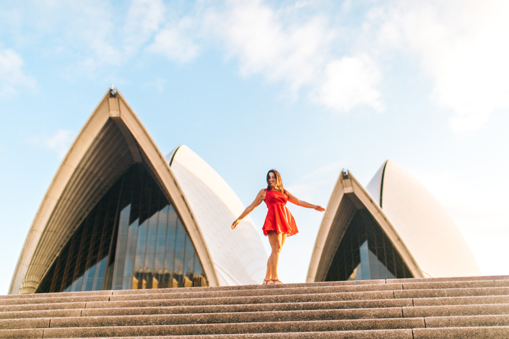 sydney opera house photo shoot