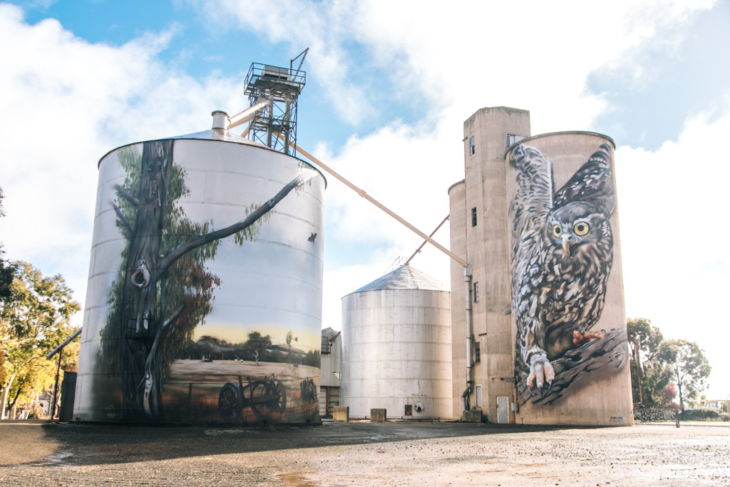 silo art trail victoria