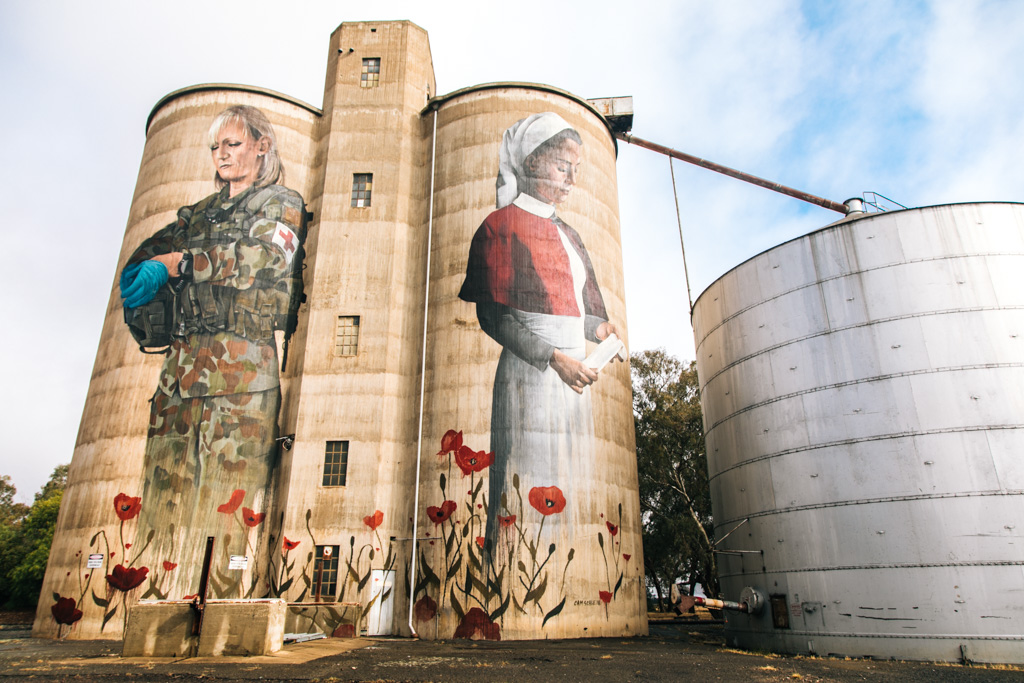 devenish silo art