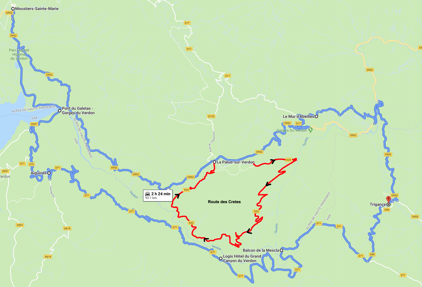 verdon gorge map