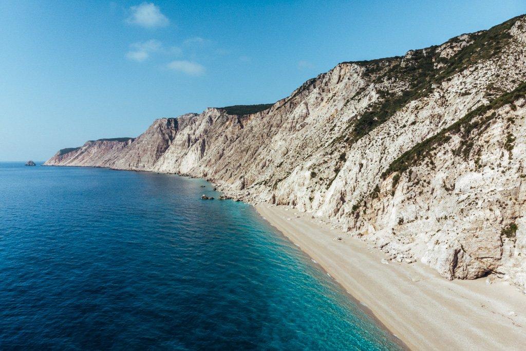 platia ammos beach kefalona greece
