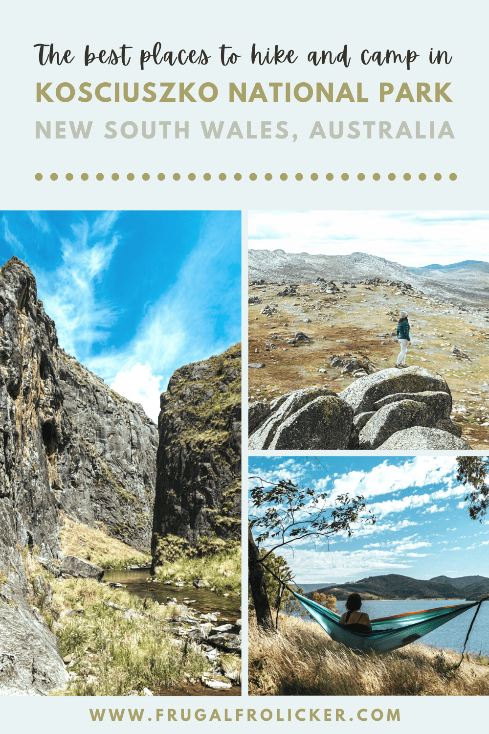 Hiking & Camping in Kosciuszko National Park in summer