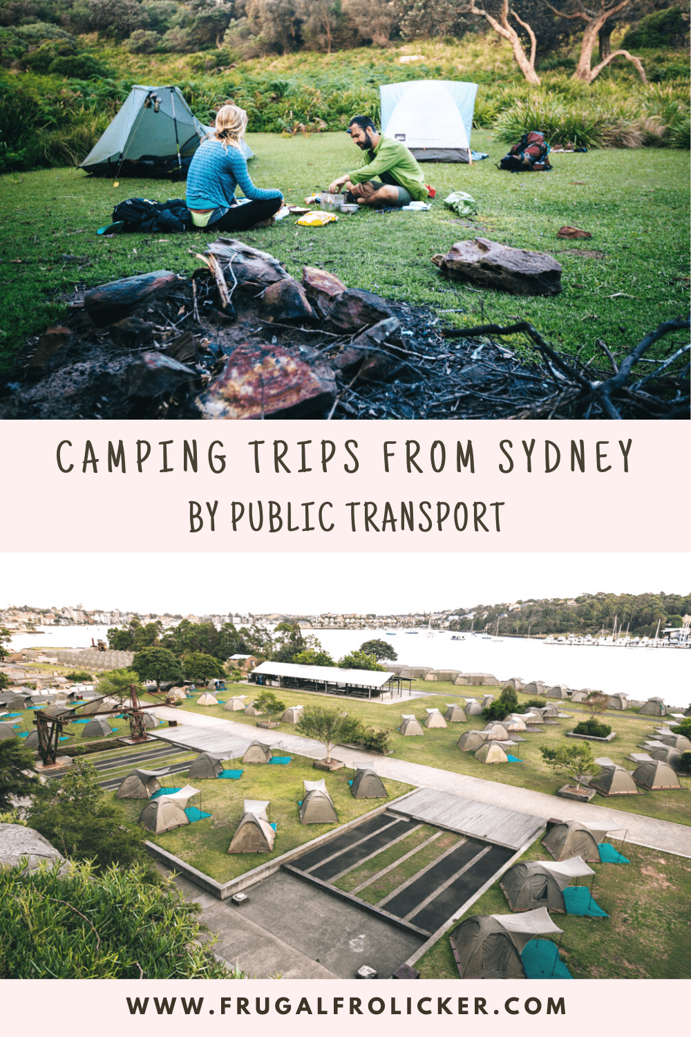 Camping near Sydney: the best camping trips from Sydney by public transport