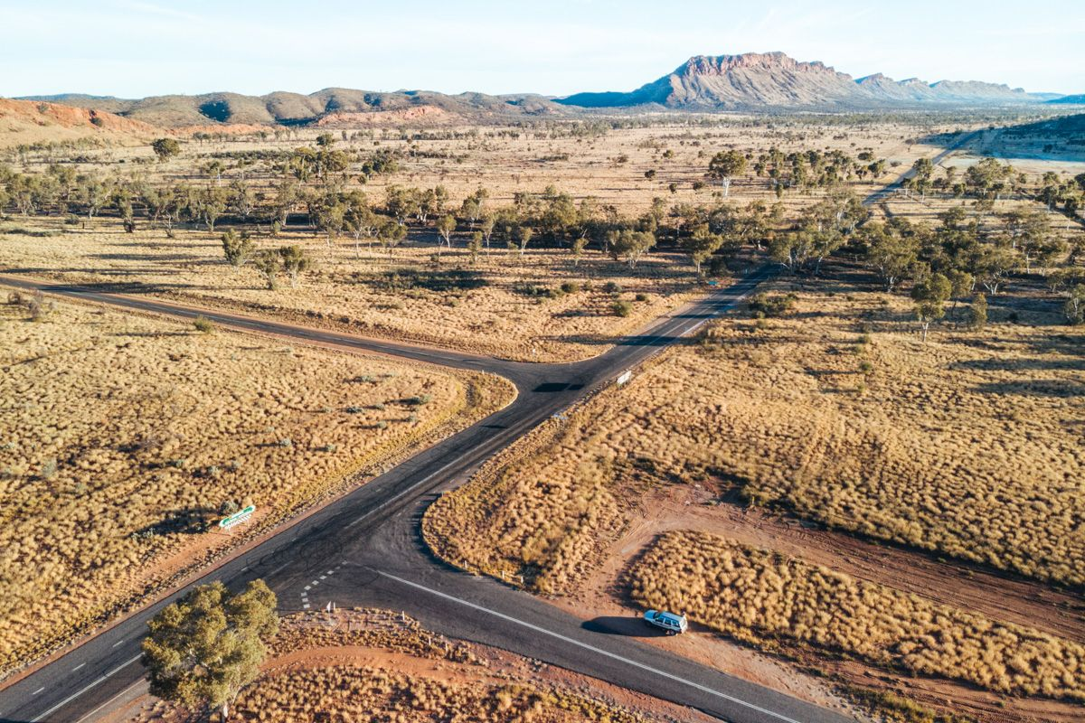 west macdonnell ranges drone